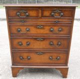 Walnut Chest of Drawers in Antique Georgian Style